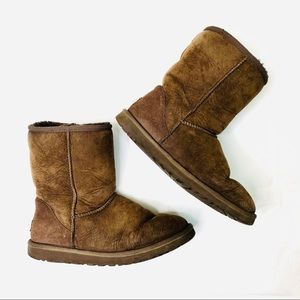 UGG Ankle Boots Dark Brown Size 9